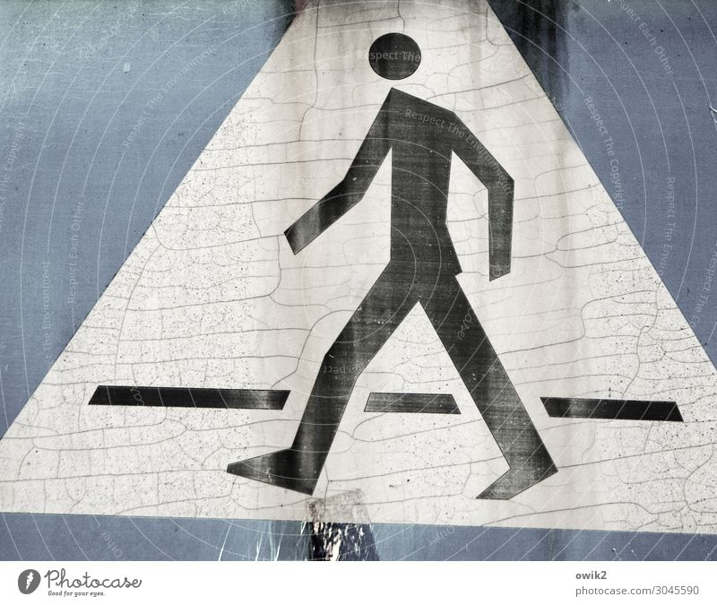 Jerzy Indissolubility Man Adults 1 Human being Sign Signage Warning sign Road sign Pictogram Triangle Pedestrian Pedestrian crossing Going Old Thin Sharp-edged