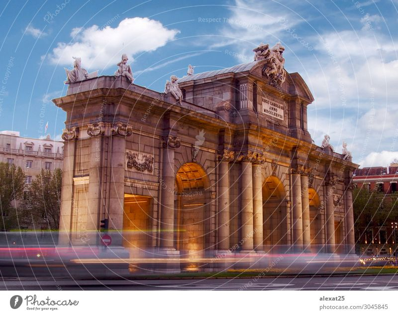Alcala gate in Madrid Vacation & Travel Tourism Town Capital city Gate Architecture Monument Adventure alcala Spain Europe Day Colour photo Copy Space top