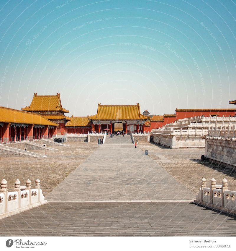 The Forbidden City Palace Museum in Beijing, China Forbidden city Asia Town Capital city Old town Deserted Castle Tower Manmade structures Building Terrace Door