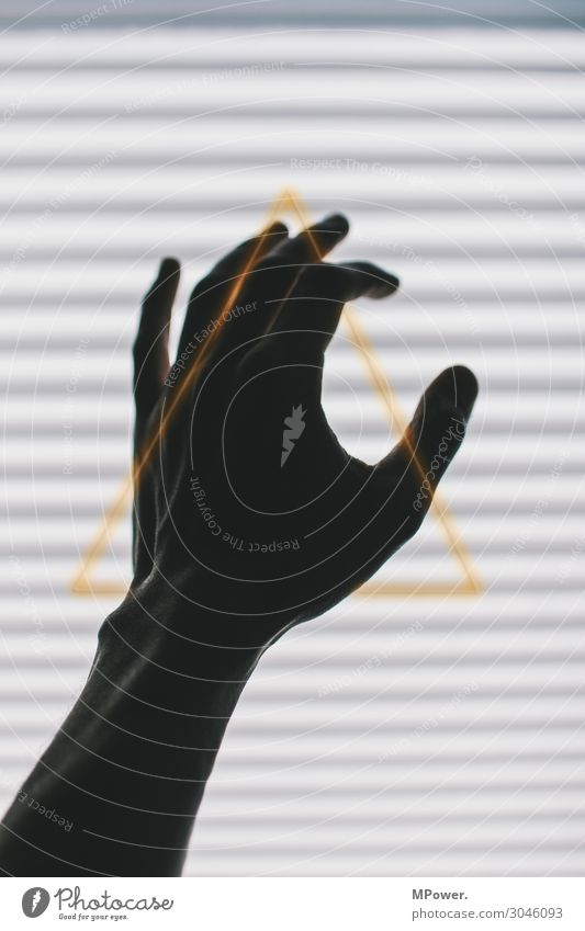 Human being Hand Esthetic Fingers Gold Sign Symbols and metaphors Stripe Contact Ornament Grasp Triangle