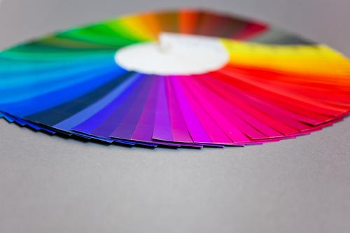 Color circle with violet in the foreground Multicoloured Pressure Print shop Document Colour Guide Dye Color chart Colour scale Colour luminosity Colour value