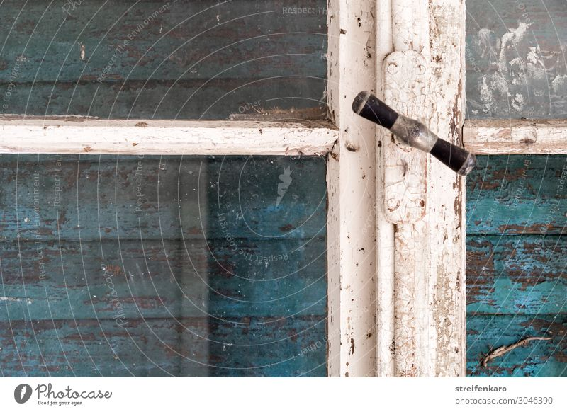Closed - old window frame in front of closed shutter Living or residing Flat (apartment) House (Residential Structure) Redecorate Room Window Shutter