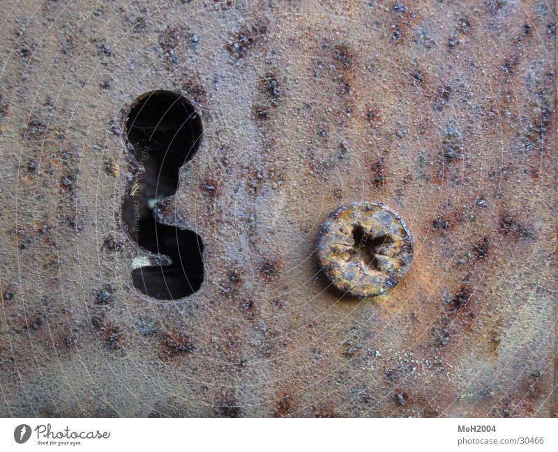 keyhole Screw Macro (Extreme close-up) Castle Rust Detail Old