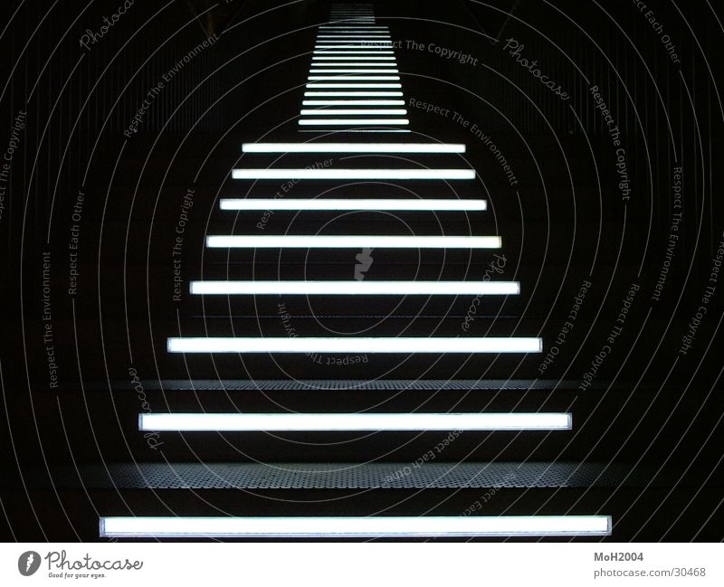 Black Lamp Dark Lighting Architecture Going Stairs Ascending Symmetry Demanding