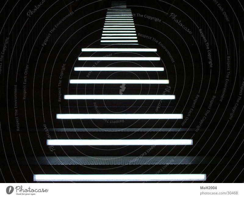 Black Lamp Dark Lighting Architecture Going Stairs Ascending Symmetry Demanding