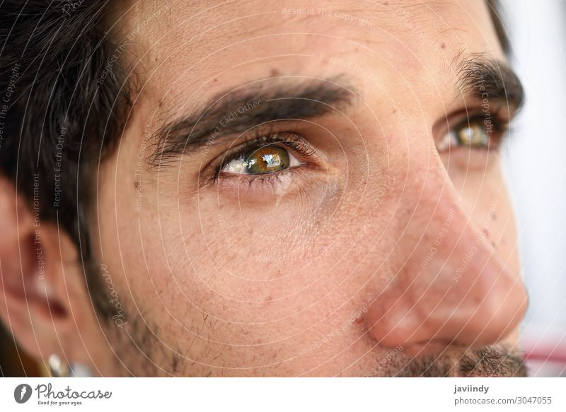Close-up portrait of young man with beautiful eyes Human being Youth (Young adults) Man Beautiful Young man White Eroticism 18 - 30 years Face Street Eyes