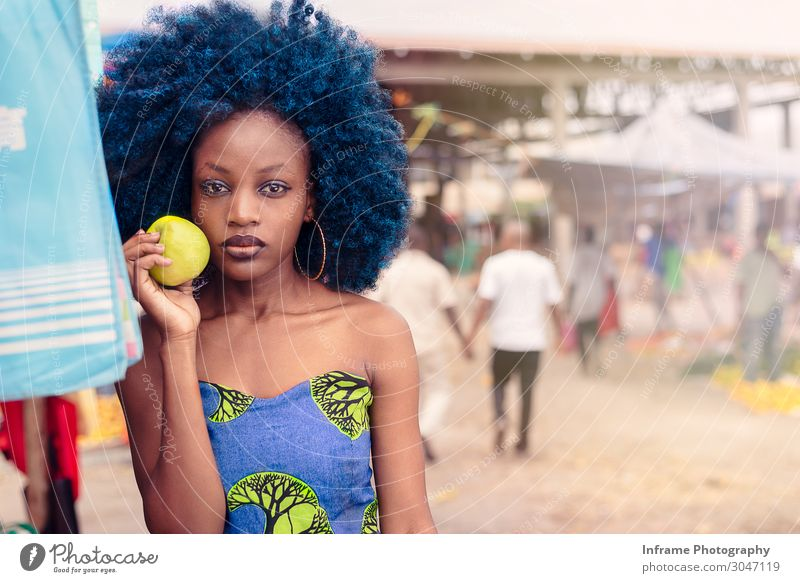 A GIRL WITH AN APPLE Human being Youth (Young adults) Young woman Joy Healthy 18 - 30 years Eyes Adults Life Love Health care Art Freedom Hair and hairstyles