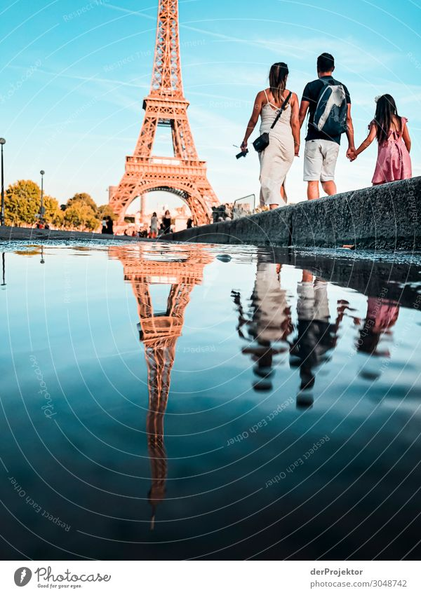 Eiffel Tower in Paris in summer Joerg farys theProjector the projectors wanderlust travel photography Deep depth of field Sunbeam Reflection Contrast Shadow