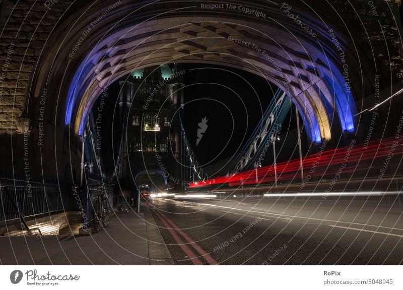 London at night Themse Thames tower Bridge bridge Town Transport traffic Manmade structures Street street England metropolis River river Construction