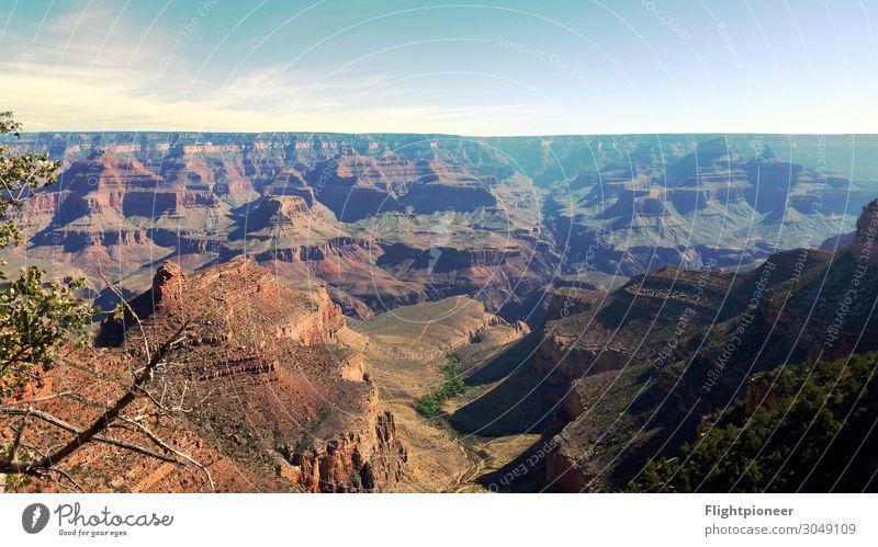 Grand Canyon, Arizona, USA Summer vacation Mountain Hiking Environment Nature Landscape Elements Earth Sky Horizon Sun Warmth Drought Hill Rock Far-off places
