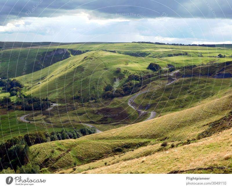 Peak District National Park, England Mountain Hiking Environment Nature Landscape Plant Elements Earth Sky Clouds Sunlight Summer Autumn Weather