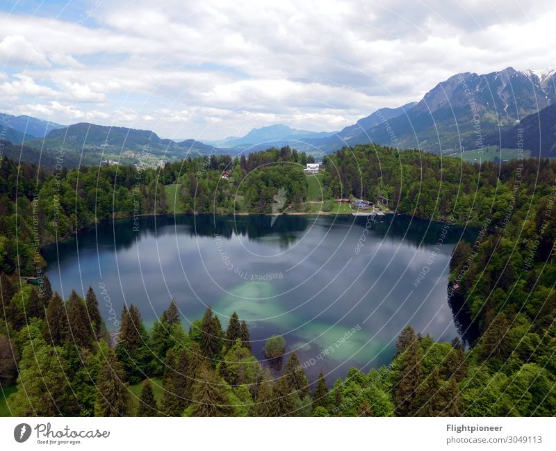 Natural swimming pool Freibergsee in Oberstdorf Vacation & Travel Mountain Hiking Swimming & Bathing Environment Nature Landscape Plant Elements Earth Water Sky