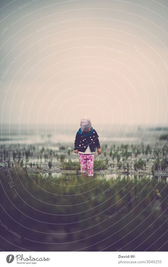 The Wadden Sea is already something beautiful Calm Vacation & Travel Tourism Adventure Far-off places Summer vacation Human being Feminine Child Toddler Girl