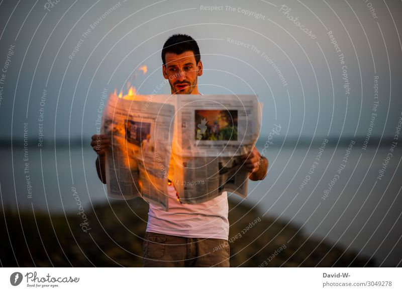 Human being Youth (Young adults) Man Young man Forest Lifestyle Adults Environment Style Business Art Masculine Observe Fire Reading