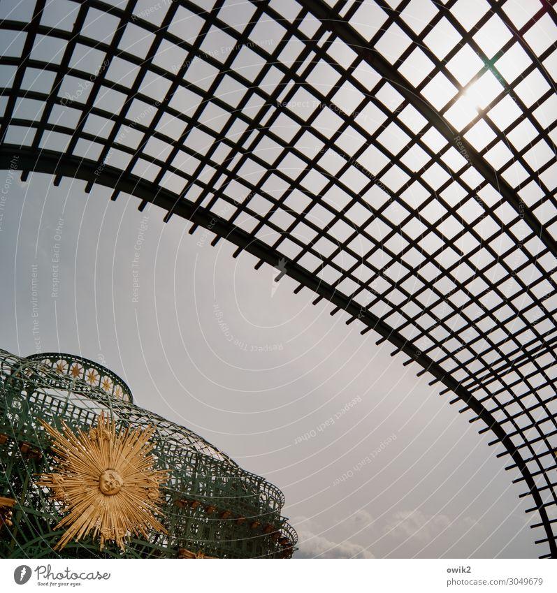 Overstretched Art Work of art Sculpture Cloudless sky Sun Chateau Sanssouci Tourist Attraction Pavilion Mesh grid Transparent Baroque Baroque garden Metal