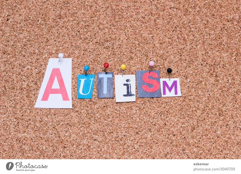 autism Healthy Health care English Word lettering Text handicap Handicapped Asperger Colour photo Interior shot Deserted Neutral Background Day