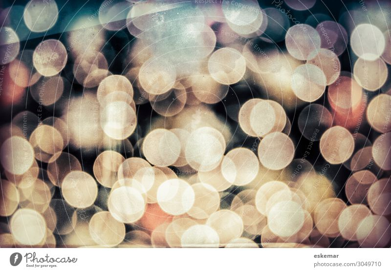 bokeh Christmas & Advent New Year's Eve Art Esthetic Modern Round Beautiful Blue Brown Gray Black blurred Copy Space Point of light Circle Sea of light Blur