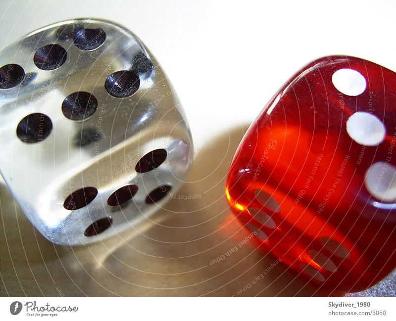 Cube pair Playing Light Leisure and hobbies Glass Dice
