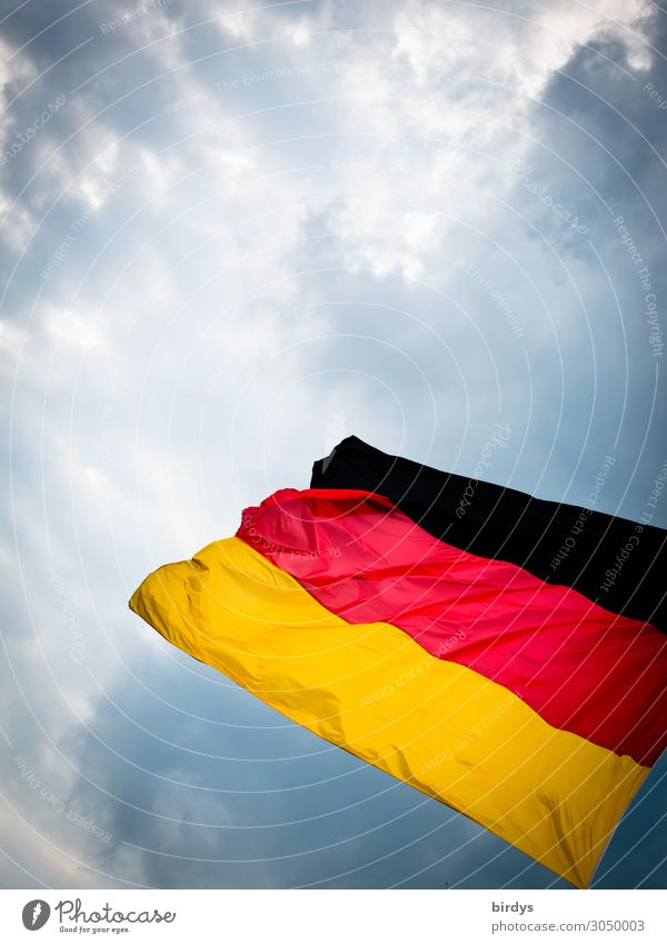 Sky Red Clouds Black Movement Germany Exceptional Gold Authentic Wind Perspective Energy Climate German Flag Threat Might