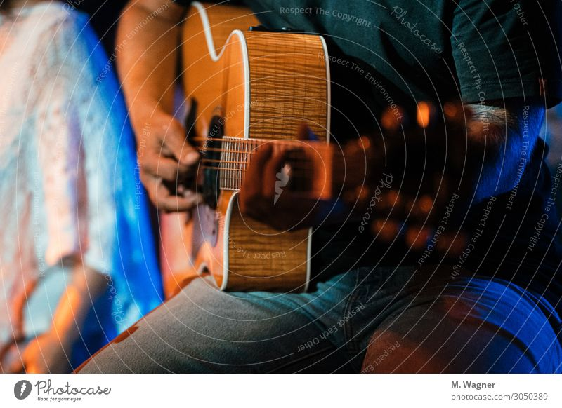 Free Taylor Leisure and hobbies Music Concert Band Musician Guitar Accessory Emotions Moody Joy Anticipation Success Guitarist Wood Colour photo Interior shot