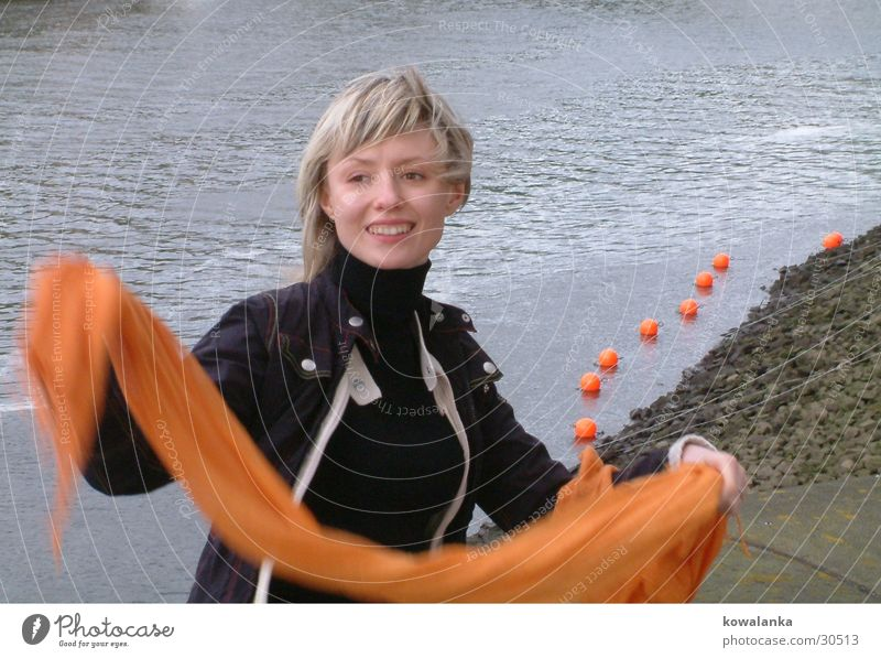 Woman Water Orange Neckerchief