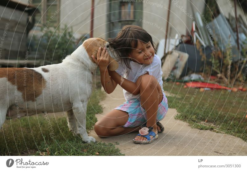 dog and girl Lifestyle Joy Wellness Harmonious Well-being Contentment Senses Relaxation Calm Leisure and hobbies Garden Parenting Education Kindergarten