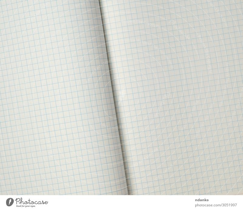 texture of an open school notebook in a cell Design School Office Business Paper Line Write Clean Blue White geometric backdrop background Blank Cage Document