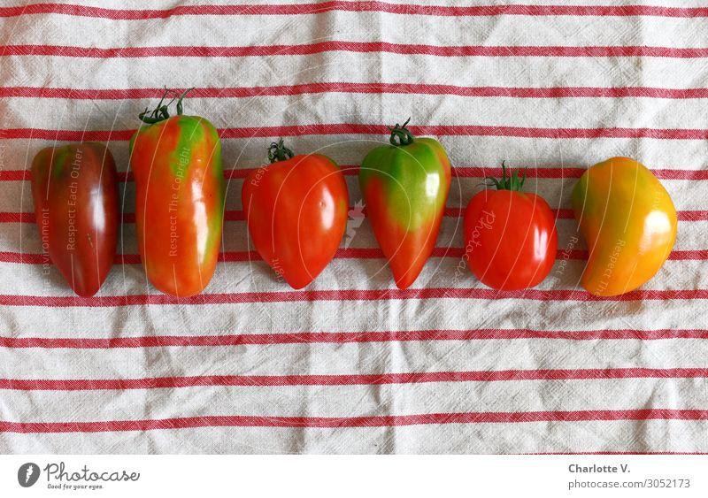 variety Food Vegetable Tomato Nutrition Organic produce Vegetarian diet Diet Italian Food Vitamin salad ingredient Healthy Healthy Eating Stripe Esthetic Simple