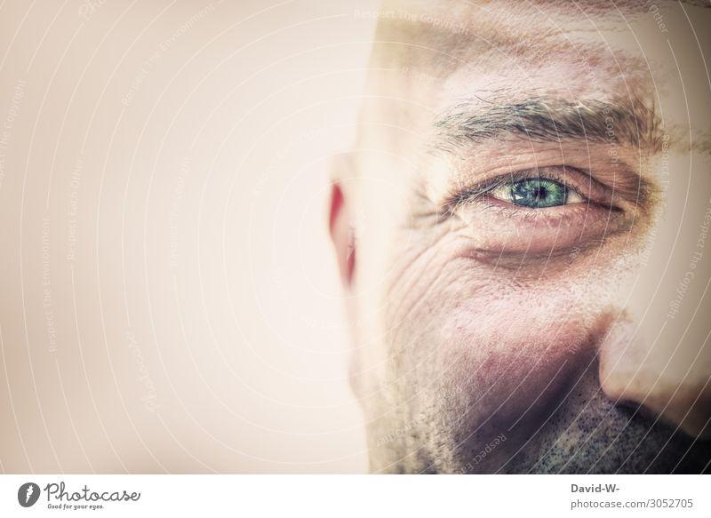semiprofile Work and employment Business Career Success Human being Masculine Man Adults Senior citizen Life Head Eyes 1 Art Work of art Observe Blue Eye colour