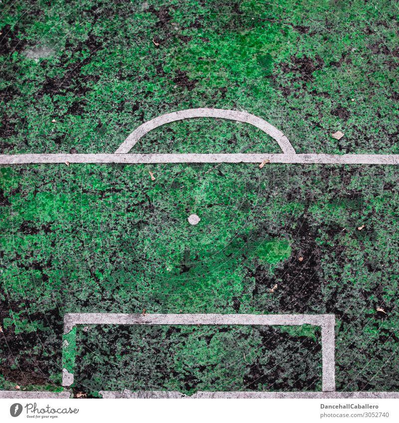Old Green White Dark Sports Leisure and hobbies Line Broken Soccer Sports team Point Asphalt Grass surface Sports Training Sharp-edged Goal