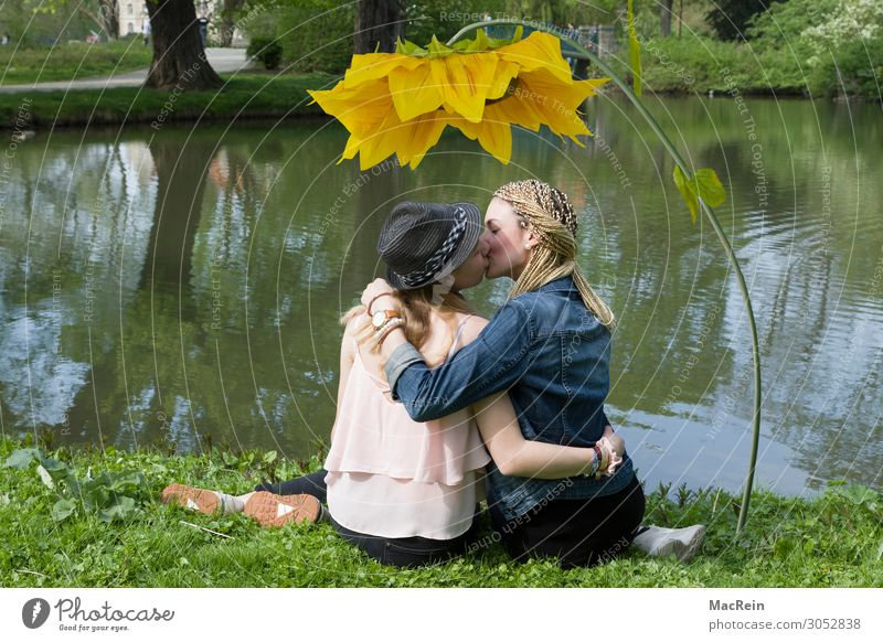Woman Human being Youth (Young adults) Young woman Summer Plant Town Beautiful Relaxation 18 - 30 years Adults Life Meadow Style Friendship Park