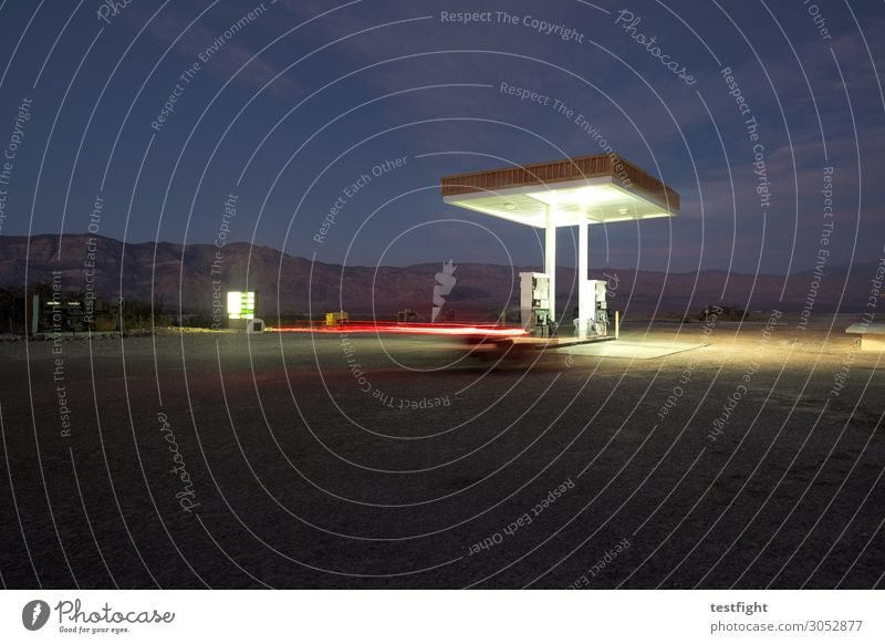 petrol station Environment Nature Landscape Night sky Manmade structures Building Architecture Transport Traffic infrastructure Road traffic Motoring Street