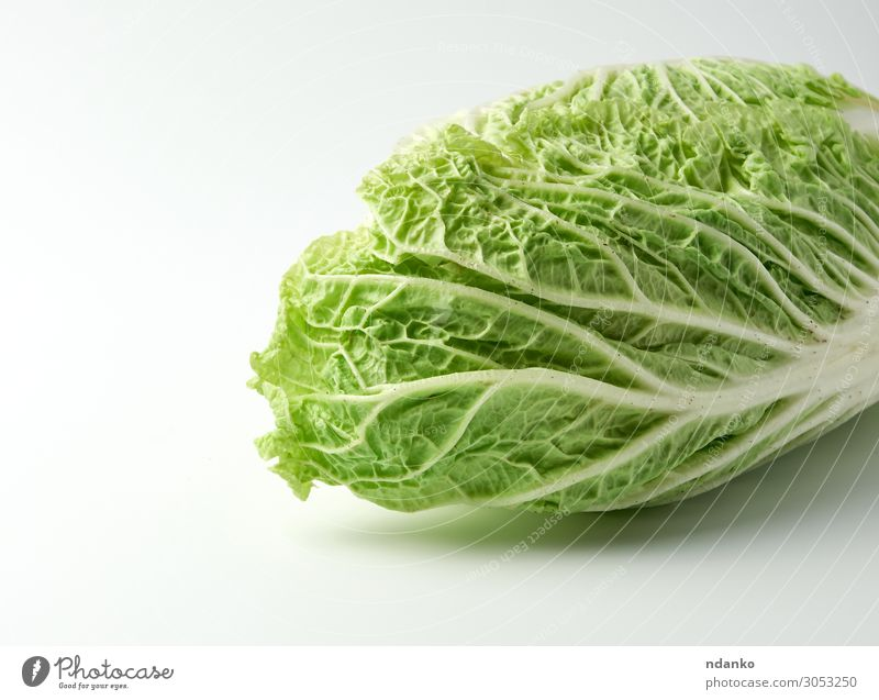 whole head of green Beijing cabbage Vegetable Fruit Nutrition Vegetarian diet Diet Kitchen Nature Plant Leaf Fresh Natural Green White chinese bok choy napa