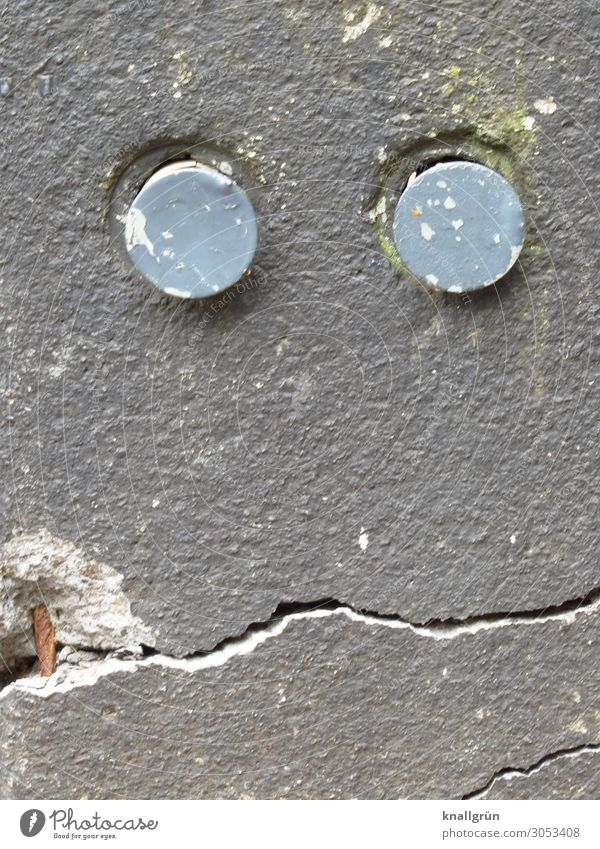 Marked by life Wall (barrier) Wall (building) Looking Dirty Sharp-edged Broken Town Gray Emotions Senior citizen Decline Time Facial expression Derelict