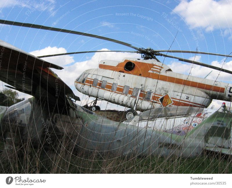 Hell Copter Helicopter Invalided out Scrapyard Aviation Rotor