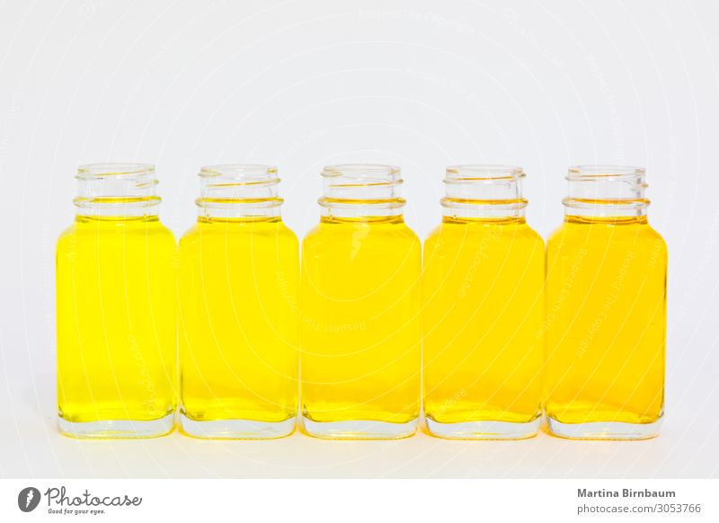 Different shades of yellow fluid in bottles Fruit Diet Juice Bottle Medication Science & Research Laboratory Industry Old Fluid Fresh Delicious Natural Brown