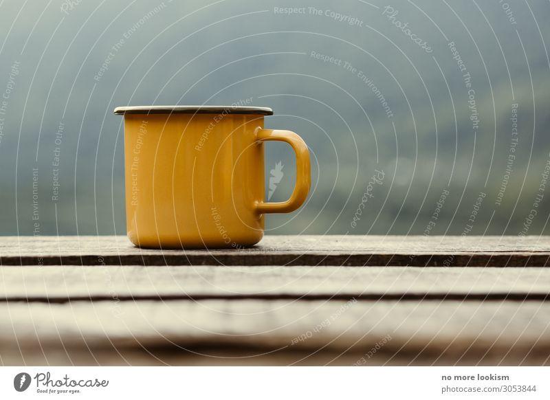 Vacation & Travel Calm Wood Autumn Warmth Moody Contentment Retro To enjoy Coffee Serene Hot Footbridge Crockery Tea Cup