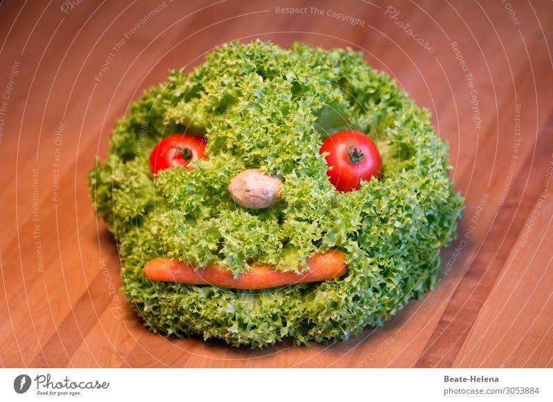 Vegetarian life brings fun Food Vegetable Lettuce Salad Nutrition Lunch Dinner Organic produce Vegetarian diet Healthy Healthy Eating Nature Plant