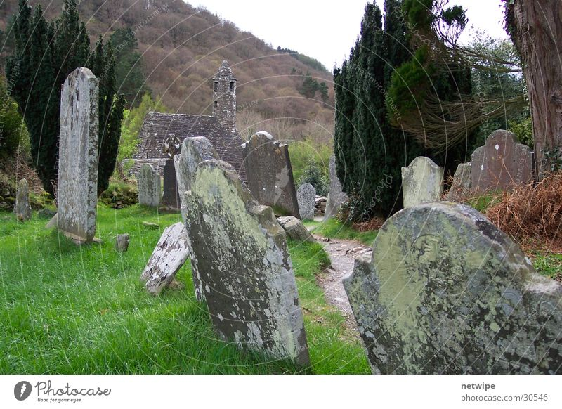 Historic Ireland Tombstone Glendalough