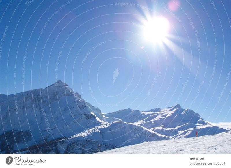 Heinzenberg Canton Graubünden Winter Mountain heinzenberg Sun ski Snow