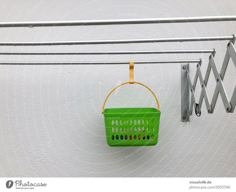 hanging Living or residing Flat (apartment) laundry Wall (barrier) Wall (building) Basket Cotheshorse claws lattice Holder Plastic Line Network