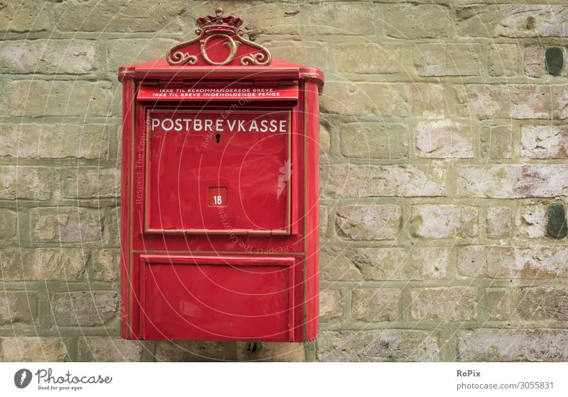 Historic mailbox in Denmark. Mail Letter (Mail) royal mail Mailbox postal email communication Contact Friends info letter letterbox Tin thin Rust structure
