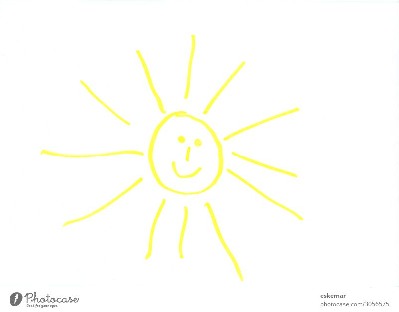 laughing sun Joy Face Summer Summer vacation Sun Sunbathing Child Art Work of art Drawing Children's drawing Sunlight Beautiful weather Laughter Happiness Funny