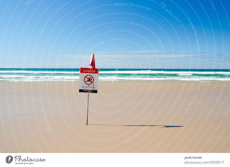origin of danger Blue Ocean Far-off places Beach Warmth Environment Coast Brown Moody Horizon Vantage point Arrangement Idyll Beautiful weather Dangerous