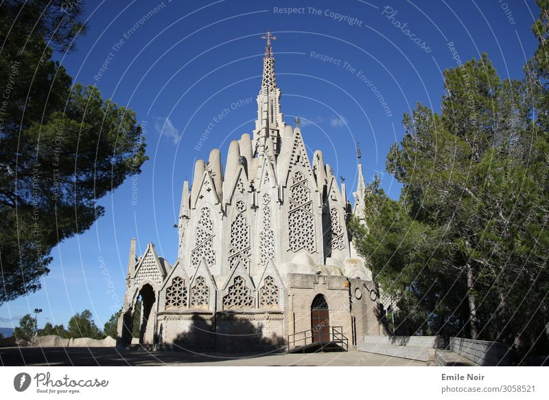 Church of the Gaudi pupil Spain Village Manmade structures Building Tourist Attraction Religion and faith Modernism Architecture Colour photo Exterior shot Day