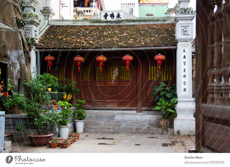 Backyard temple Hanoi Vietnam Old town Architecture Temple Vacation & Travel Religion and faith Colour photo Exterior shot Day