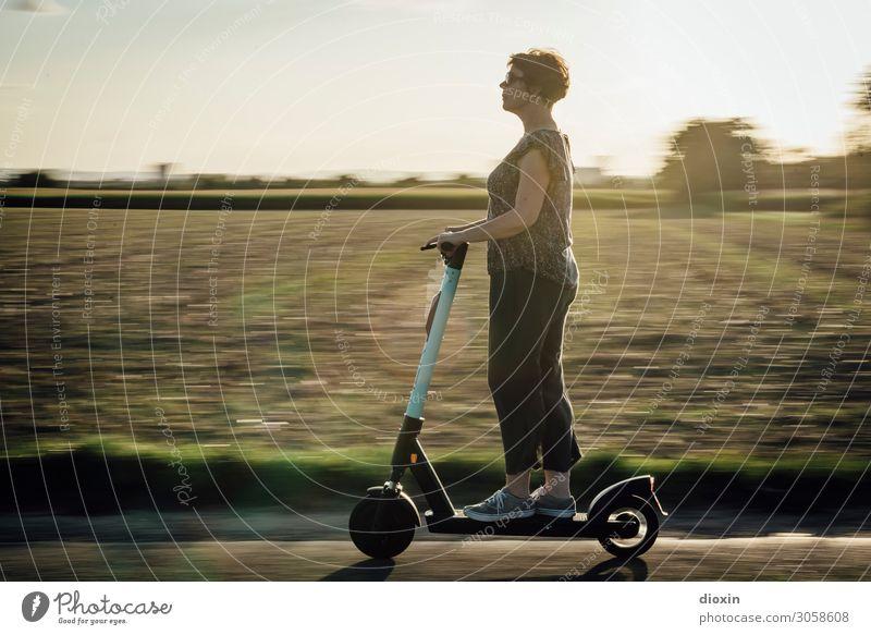 Woman Human being Nature Landscape Joy Lifestyle Adults Environment Feminine Transport Modern 45 - 60 years To enjoy Speed Cool (slang)