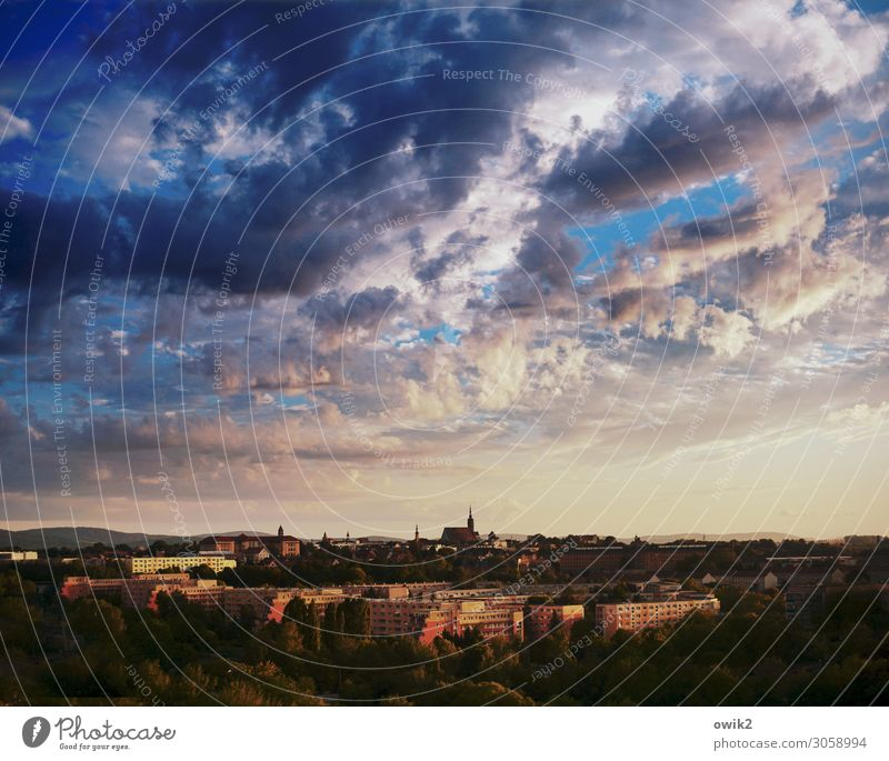 hours later Sky Clouds Beautiful weather Bautzen Germany Small Town Downtown Skyline Populated House (Residential Structure) Church Dome Building