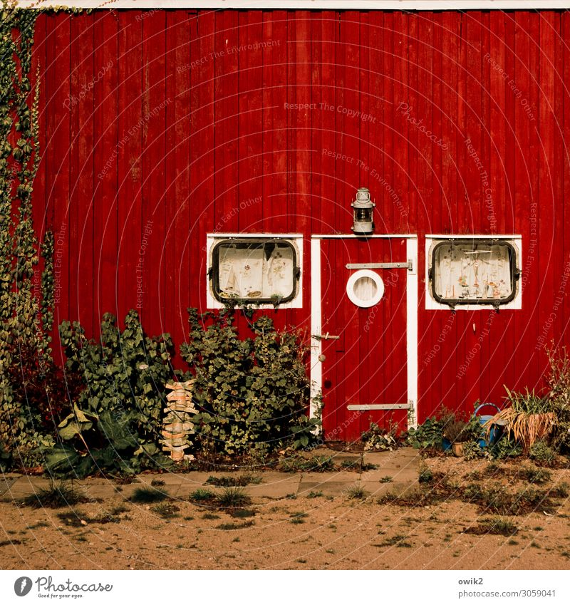 Old Red Window Wood Wall (building) Building Wall (barrier) Facade Sand Door Earth Idyll Bushes Hut Maritime