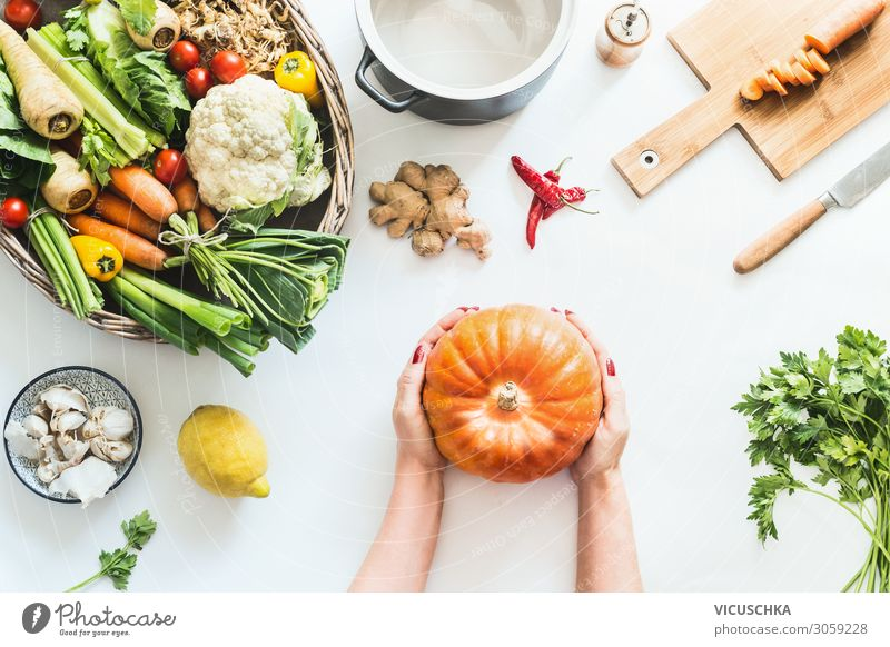 Woman Healthy Eating Hand Food photograph Background picture Lifestyle Adults Autumn Style Design Nutrition Modern Table Shopping Vegetable